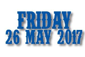 Buy Friday 26 May Tickets