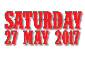 Buy Saturday 27 May Tickets