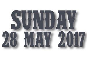 Buy Sunday 28 May Tickets
